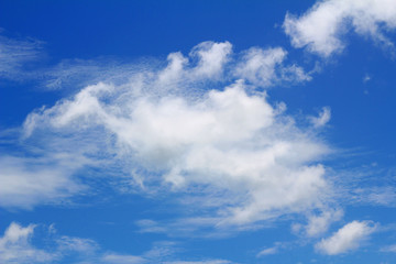 Natural Background With Blue Sky Cloud.