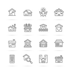 home vector line icons