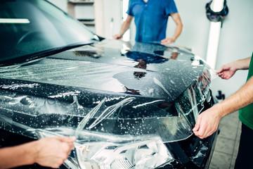 Transparent film, car paint protection