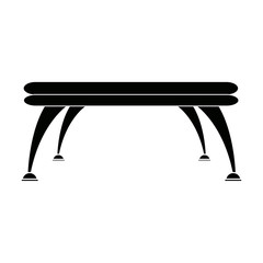 table platform stand template for object vector illustration