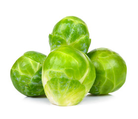 Aluminium Prints Brussels brussel sprout isolated on the white background