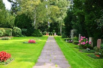 Tuinposter Begraafplaats Friedhof