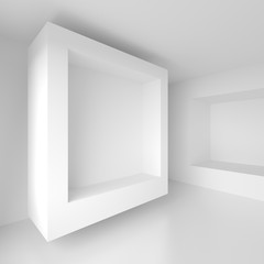 White Cubes Background. Abstract Futuristic Design