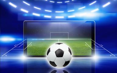 Soccer online concept