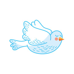 cute dove isolated icon vector illustration design