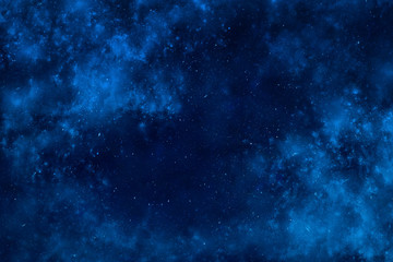 Outer space dramatic background with clouds and stars