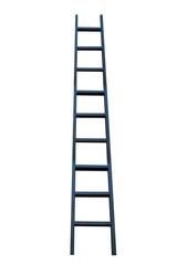 Black ladder on white background
