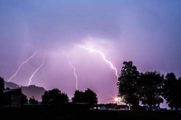 Blitzeinschlag, Gewitter