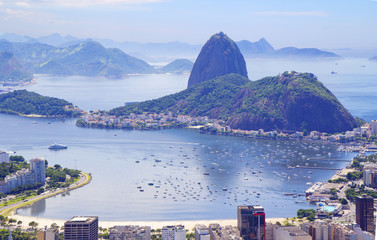 Бразилия. Рио-де-Жанейро. Вид с горы Корковадо.