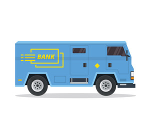 Modern Bank Armored Car Illustration