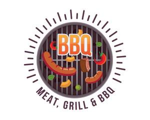 Modern Premium Tasty Barbecue Badge Logo