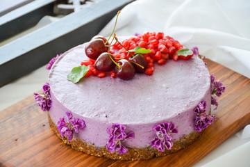 Wild berries cake