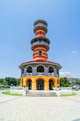 Ho Withun Thasana, or Sages' Lookout, landmark at Bang Pa-In Royal Palace, Thailand