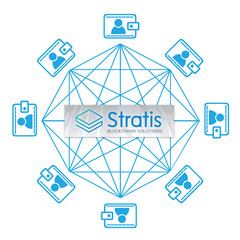 Concept of  Stratis Coin, a Cryptocurrency blockchain platform , Digital money
