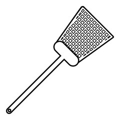 Swatter icon, outline line style