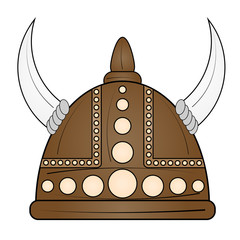 Helmet viking icon