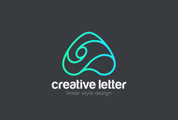 Letter a Logo vector Linear. Font media marketing Logotype icon