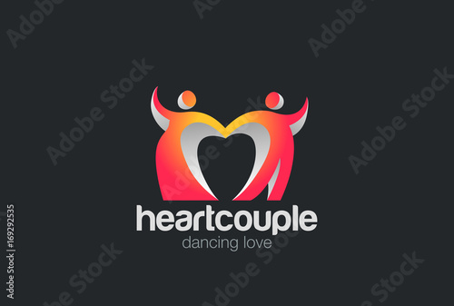 Dating logo vektor