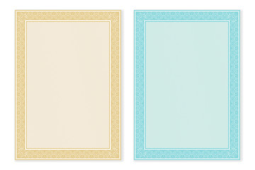 Certificate template. Blank form with decorative border