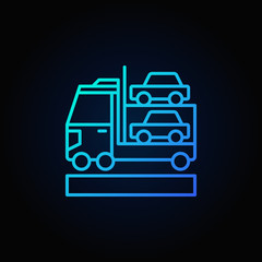 Car transporter blue icon