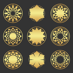 Abstract element for design, gold  decoration.