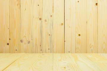 Wood table background.