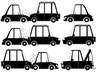 Car crash and accident