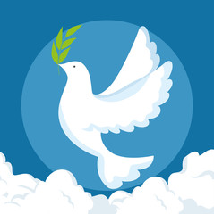 Dove of Peace and love theme Vector illustration