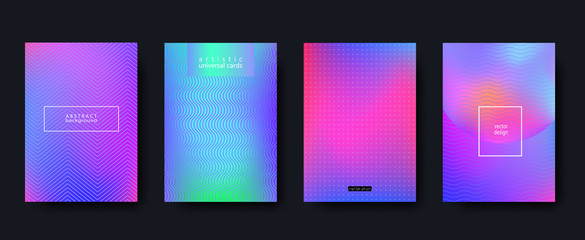 Minimal covers set. Future geometric design. Vector template for banners, placards, poster, pop art flyers, presentations and annual reports. Hipster style, minimalist. Size A4.
