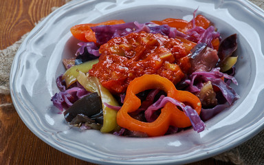 Eggplant With Red Cabbage