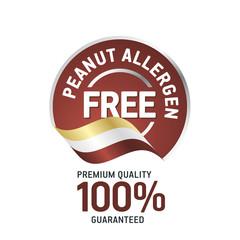Peanut Food Allergen Free brown label logo icon