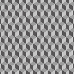 Cubic gray geometric background – vector