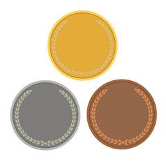 empty coins, games medals color