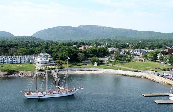 Bar Harbor, Maine aerial