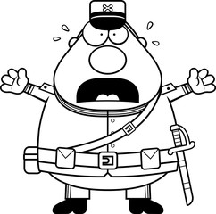 Scared Cartoon Union Soldier