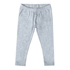 children's trousers of gray color isolated on a white background