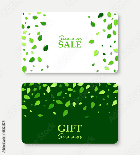 Summer sale and gift summer card layout templates shopping gift summer sale and gift summer card layout templates shopping gift certificate vector illustration with scattered yadclub Gallery
