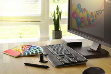 Grafiker Schreibtisch