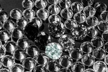 Colorful polished diamond jewelry