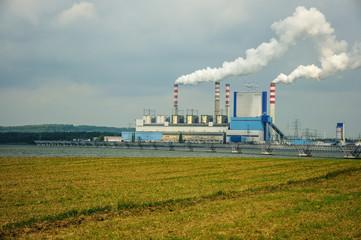 Dymiąca elektrownia - fototapety na wymiar