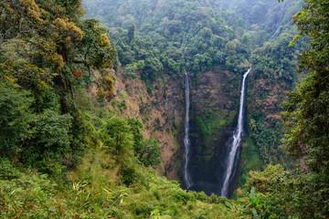 Laos Bolaven plateau Tad Fane waterfall