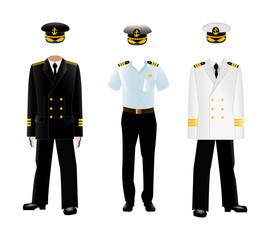 Navy captain uniform, vector