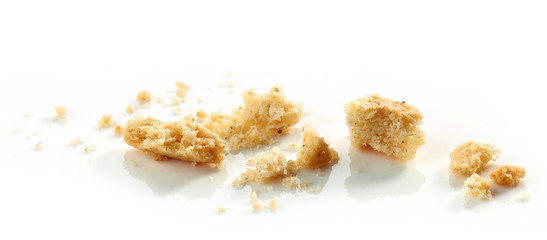 Poster Koekjes crumbs of cookie macro