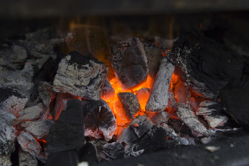 Stove on charcoal