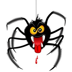 Photo Blinds Draw Halloween Spider Spooky Cartoon Character