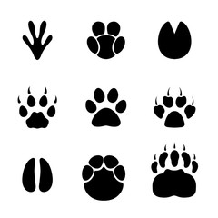 Footprint animals set.