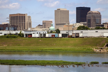 Fotomurales - Summer skyline of Dayton, Ohio