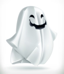 Ghost. Happy Halloween, 3d vector icon