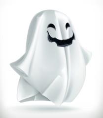 Ghost. Happy Halloween, 3d vector icon