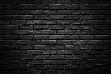 Photo sur Toile Con. ancienne Dark brick wall